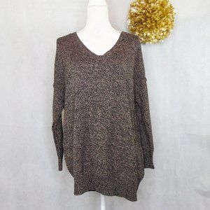 BCBGeneration Brown and Black Knit Sweater XS